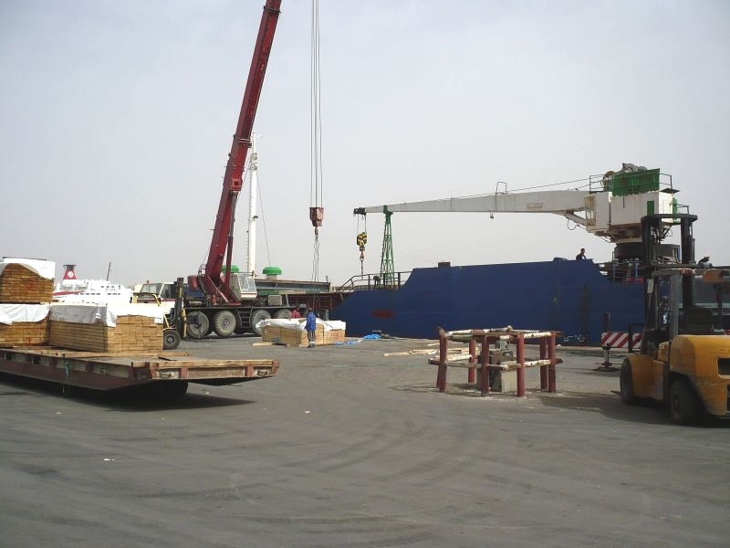 Unloading in North Africa