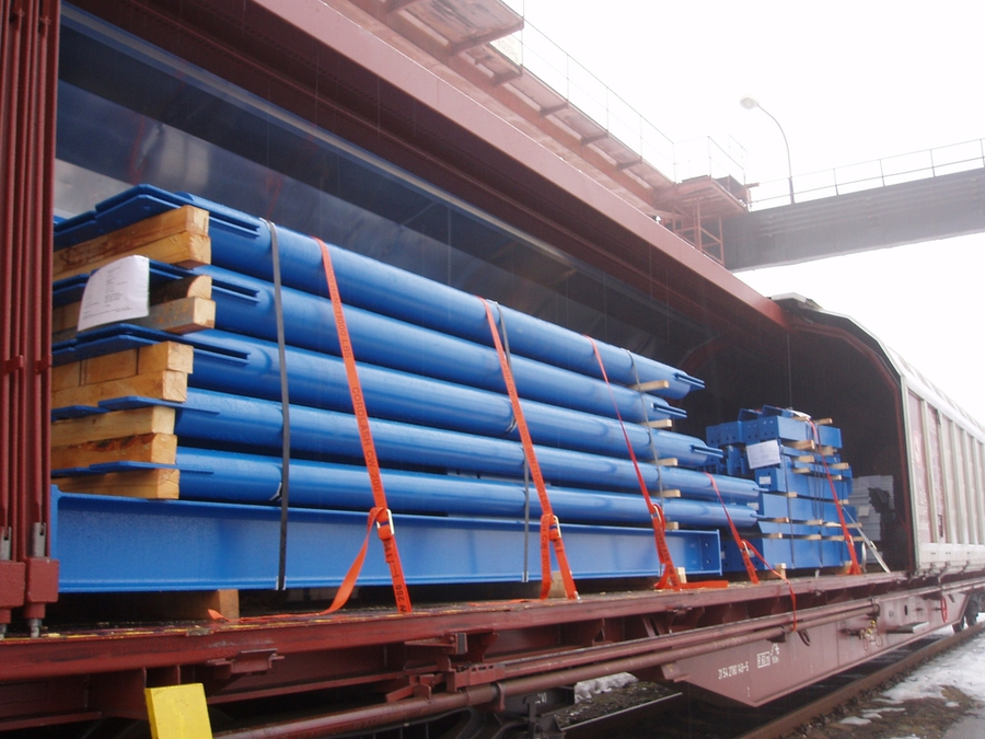 Transport of steel construction and sheathing to Azerbaijan